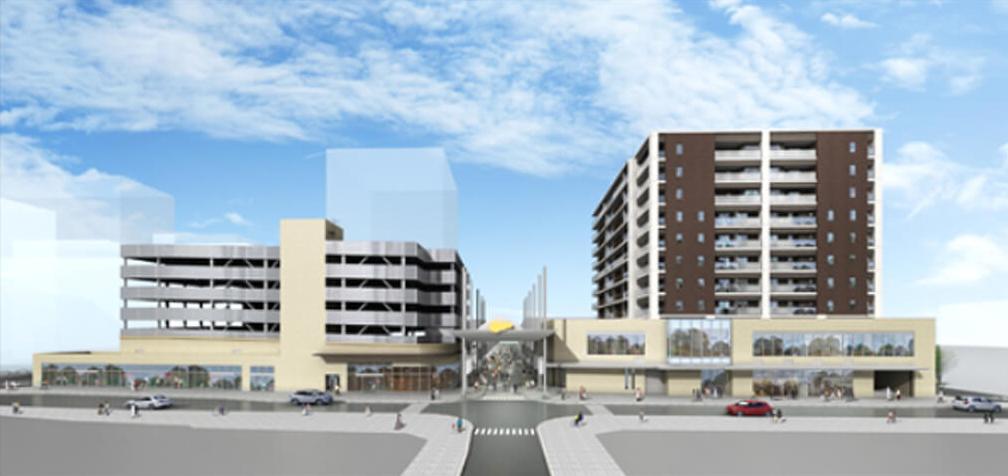 諫早市東西街区第一種市街地再開発事業構想図
