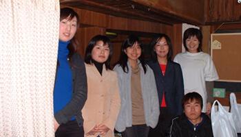 九州看護福祉大学の生徒たち